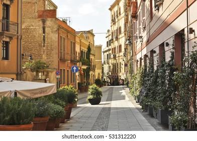 Architecture of Cagliari, Sardinia, Italy