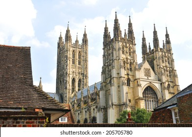 Architecture of Canterbury Cathedral in Kent, England
