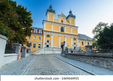 Architecture of the church in the old town in Poznan, Poland.