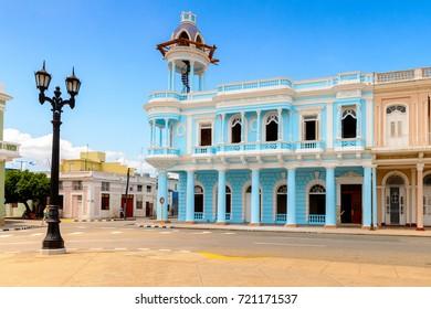 Architecture of Cienfuegos, Cuba.
