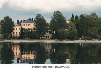 architecture of the city of Kuopio. Finland