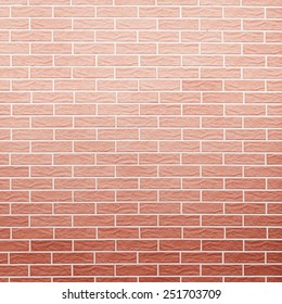 Architecture. Closeup of red brick wall as background texture or pattern. Square format