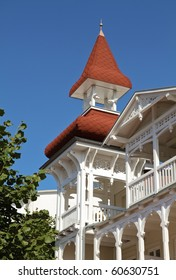 architecture of coastal houses in Germany, on the island of Rügen