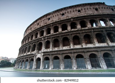 architecture of colosseum or coloseum at Rome Italy