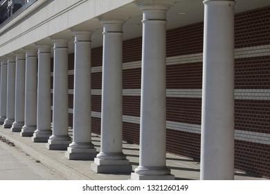 Architecture columns in repetitive design