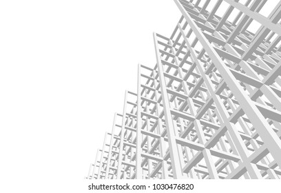 architecture construction 3d illustration