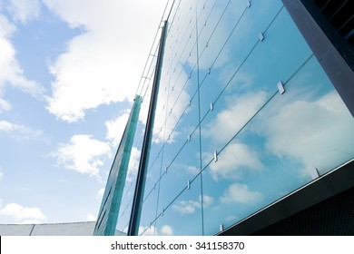 architecture and construction concept - modern office building facade