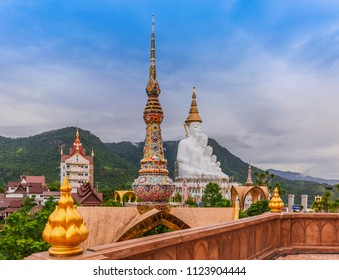 The architecture and decoration of  Phra That Pha Son Kaew temple located in Phetchabun Province, Thailand. Visited on June 17, 2018.
