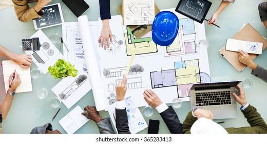 Architecture Design Messy Interior Meeting Concept
