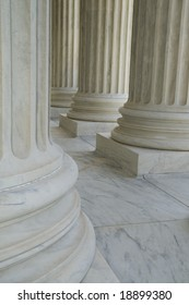Architecture Detail of Columns of a Building in Washington DC