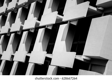 Architecture detail Modern building Black and White