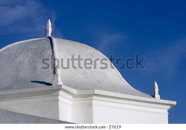 An architecture detail of an Portuguese church.