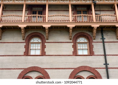 Architecture details with brick and windows