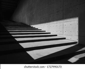 Details zur Zement-Wand Treppe Moderne Bauschattierungen und Schattenbeleuchtung