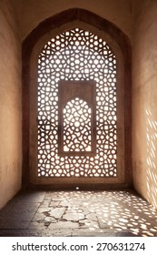 Architecture details of Humayun's Tomb, UNESCO World Heritage on 19 September 2014, Delhi, India.