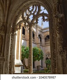 Architecture Details at Monastery of San Juan de los Reyes in Toledo, Spain