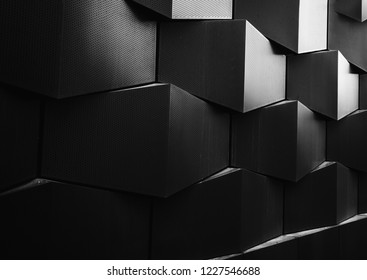 Architecture details wall pattern geometric abstract background.