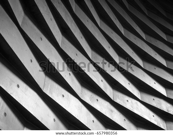Architecture details wall pattern geometric abstract background