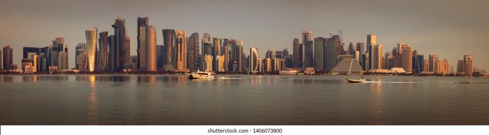 Architecture of Doha. Doha, Ad-Dawhah, Qatar.
