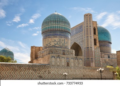 Architecture of the East. Bibi-Khanum mosque complex, Samarkand, Uzbekistan