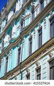 Architecture of the end of 19th century and beggining of 20th centure in art nouveau style in Kiev, Ukraine