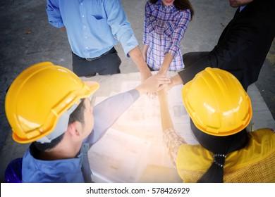 architecture engineer teamwork collaboration relation concept