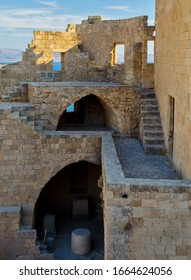 Architecture at the fort and ancient temple of Lindos Acropolis, Rhodes