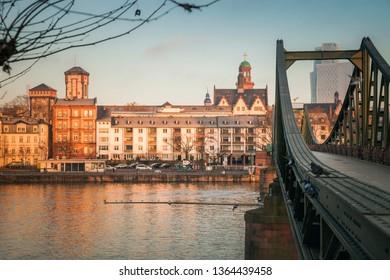 Architecture of Frankfurt. Frankfurt, Hesse, Germany.