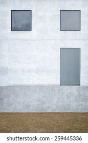 Architecture front from a Baushaus master house in Dessau.