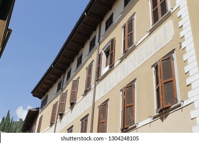 architecture in Gargnano, a small village on Garda lake in northern Italy