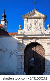 Architecture of gate in Ptuj Castle in Slovenia. Ptujski grad in Slovenija. Travel
