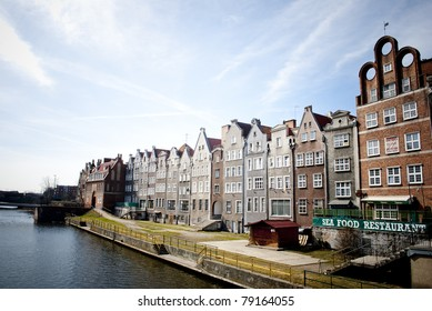 Architecture in Gdansk, Poland, harbor