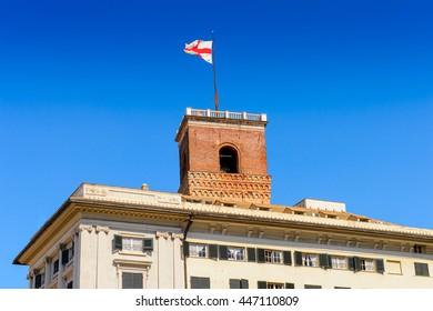 Architecture of Genoa, Italy.