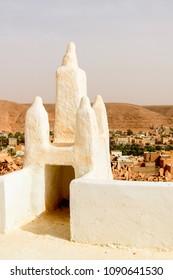 Architecture of Ghardaia (Tagherdayt), Algeria, located along Wadi Mzab, UNESCO world heriatage site