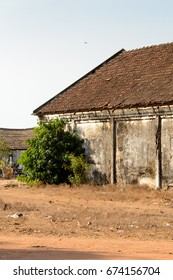 Architecture of the ghost town Bolama, the former capital of Portuguese Guinea