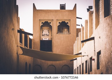 Architecture in heritage city representing old Dubai