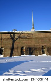 Architecture of historic city center of Saint Petersburg, Russia. Peter and Pauls fortress. Popular landmark.