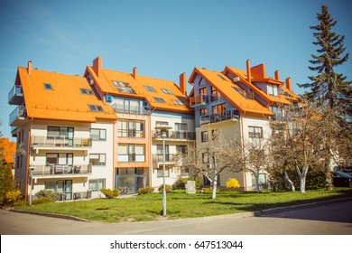 Architecture of houses in the city Nida. Lithuania