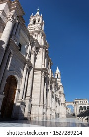 Architecture of a iconic place at Arequipa city, Plaza de Armas