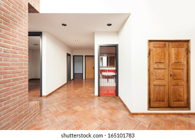 Architecture, interior classic house, entrance view