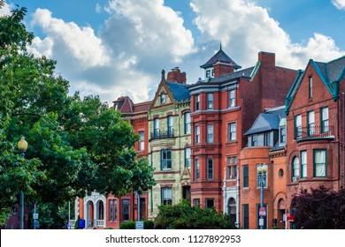 Architecture at Logan Circle, in Washington, DC