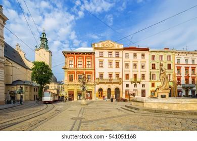 Architecture of Lvov. Ukraine.