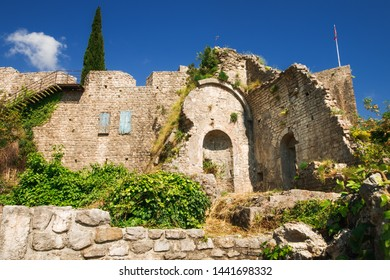The architecture of the medieval Old Town Bar, Montenegro