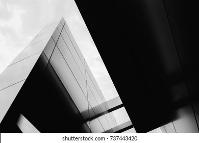 Architecture modern finance  building with geometric line. Concept of successful building.