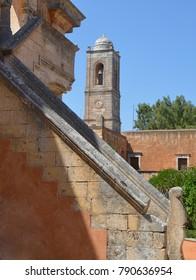 Architecture at Monastery Agia Triada Tzagarolon near Chania, Crete