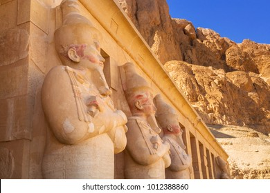 Architecture of the Mortuary Temple of Queen Hatshepsut in Egypt