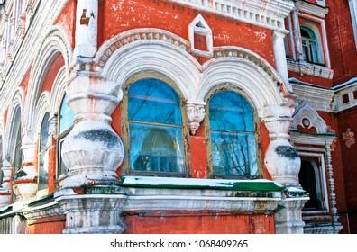 Architecture of Moscow city. Chamber of  Averky Kirillov at Bersenevka, popular landmark, famous historical building in Moscow city center, on Bersenevskaya embankment.