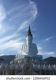 The architecture in the north of Thailand in the temple with blue sky.