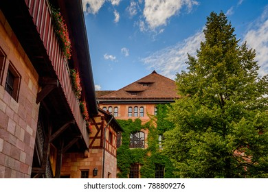 Architecture of Nuremberg, the largest in town in Franconia, Bavaria state, Germany