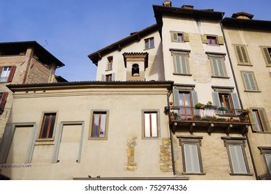 Architecture of the Old City of Bergamo, Italy, Europe